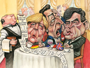 """The bill that could break up Europe"", The Economist, 2009 - Cliquez sur l'image pour accéder à l'article."