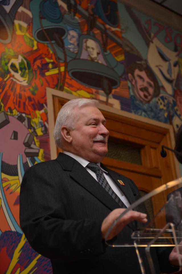 Visite de Lech Wałęsa à Lille à l'occasion des Journées Polonaises
