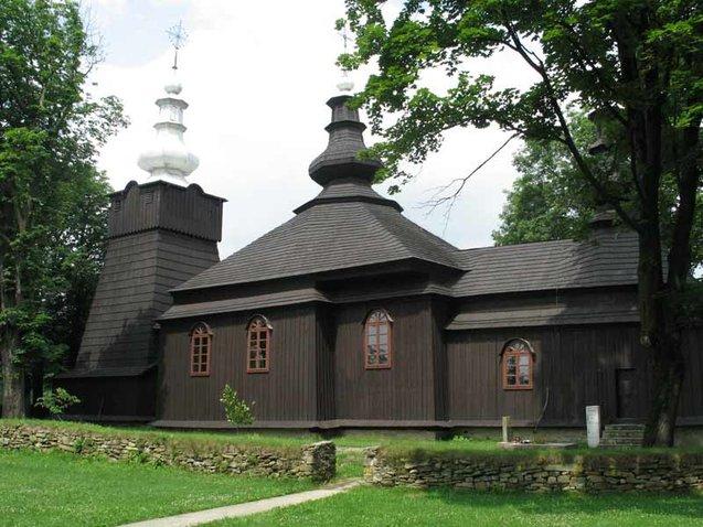 Tserkvas en bois de la région des Carpates en Pologne et en Ukraine.