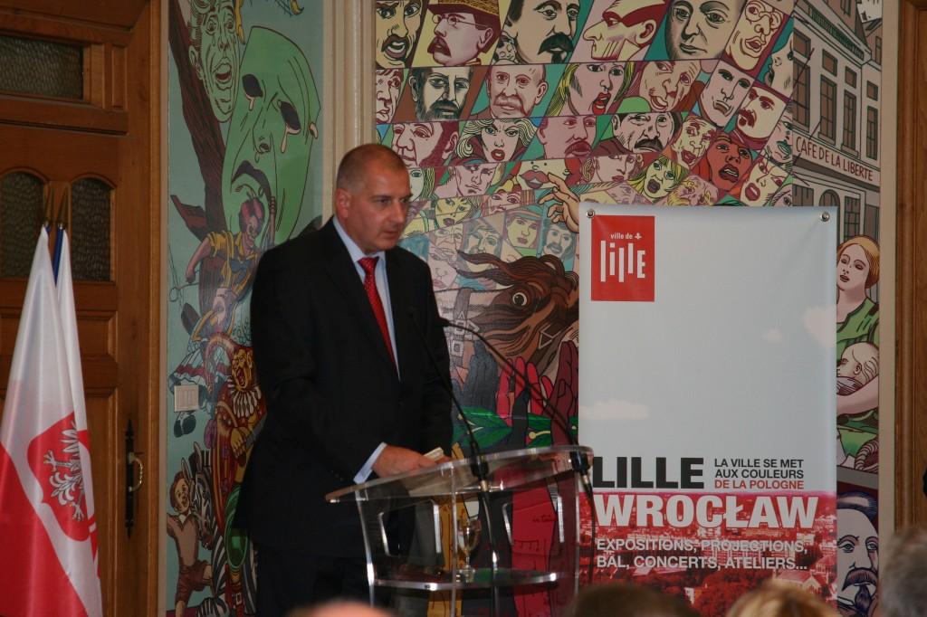 Rafał Dutkiewicz, Maire de Wroclaw (photo : Michel Leclerc pour l'APGEF)