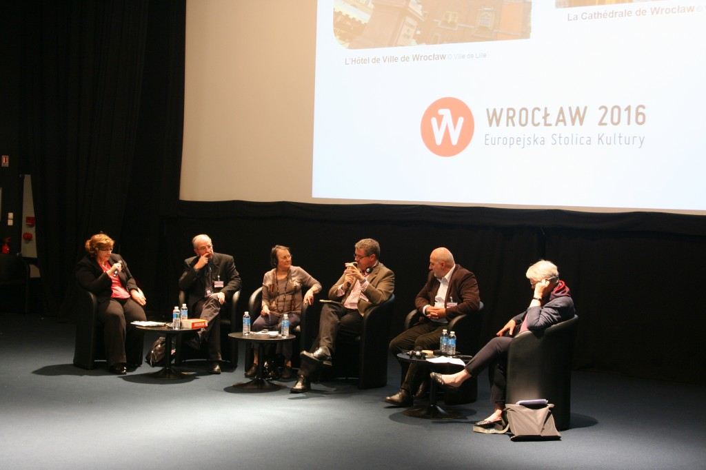 Table ronde « Lille-Wroclaw : une histoire riche d'avenir » (photo : Michel Leclerc pour l'APGEF)