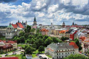 z13214628V,Lublin-stare-miasto--Panorama-Lublina---widac-kosc
