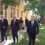Les Ministres des Affaires Etrangères, Mrs Ayrault, Steinmeir et Waszczykowski