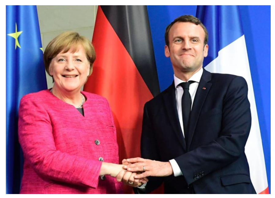 [Cité U à Paris] Emmanuel Macron et Angela Merkel:…