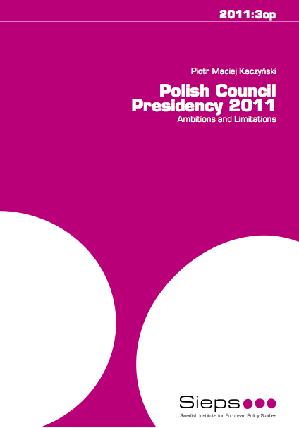 APGEF   Polish Council Presidency 2011: Ambitions and ...
