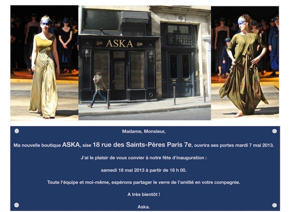 Boutique parisienne Aśka
