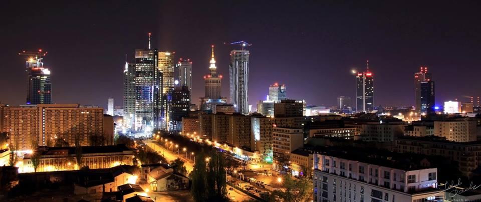 Widok z Towarowej na centrum Foto: Jakub Obuch