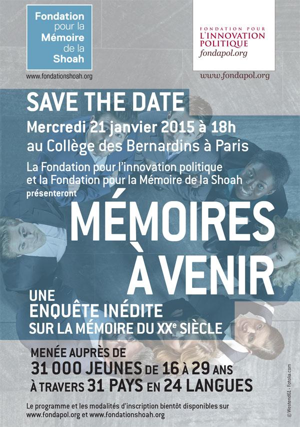 """21.01.15 – """"Mémoires à venir"""": une enquête sur la mémoire du XXe siècle"""
