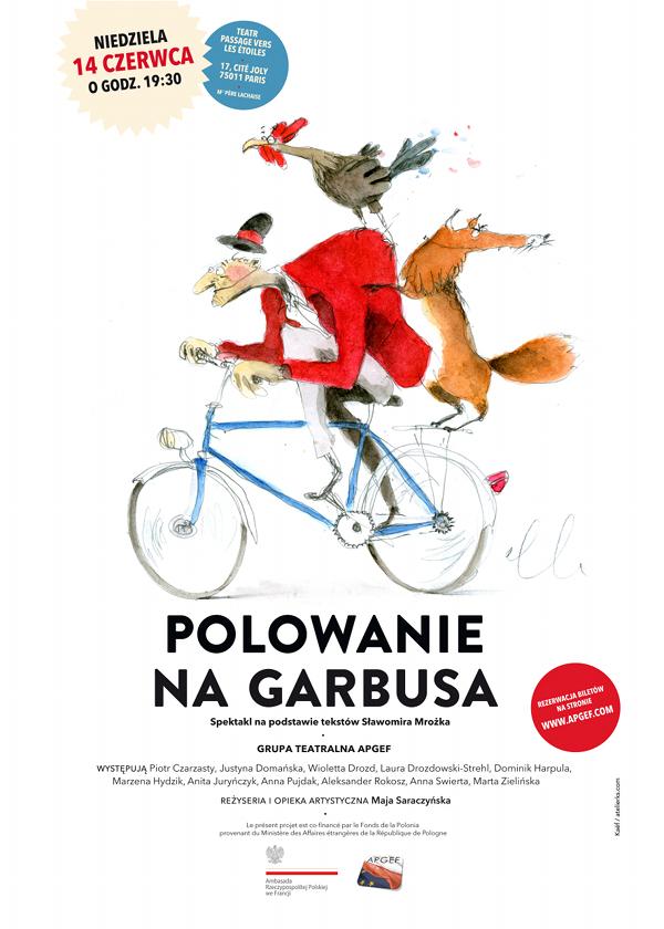 """Affiche de la pièce """"Polowanie na Garbusa"""" - dimanche 14 juin 2015"""