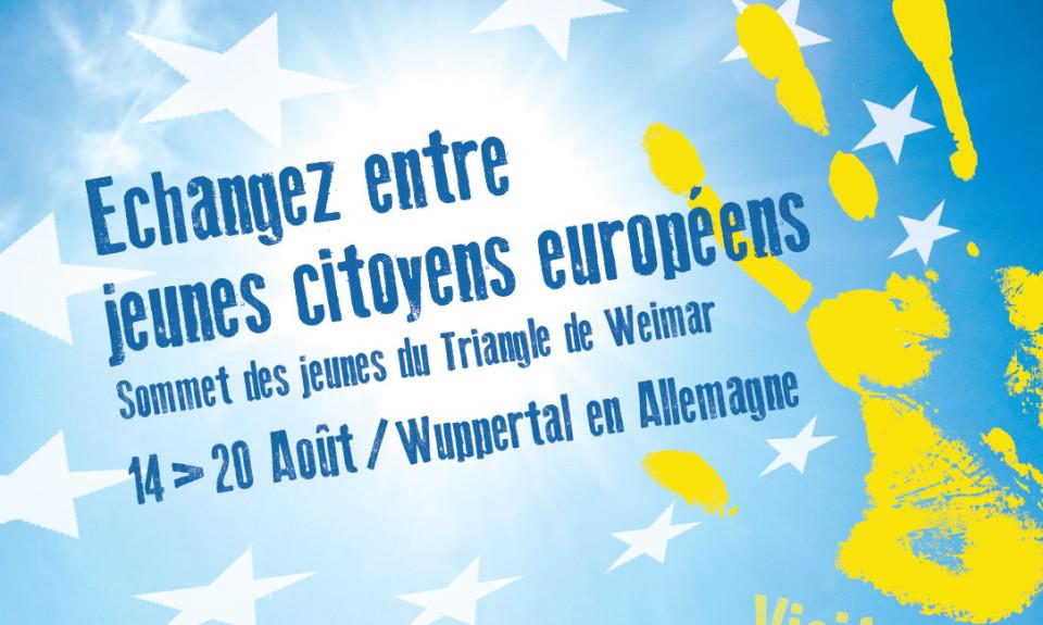 Triangle de Weimar: participez au Sommet des Jeunes du 14 au 20 aout 2016 (résidents Nord et Pas-de-Calais uniquement)