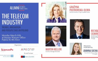 REGISTER FOR THE NEXT ALUMNI BUSINESS RDV : CONFERENCE ON THE TELECOM INDUSTRY CHALLENGES ON MARCH, 11TH IN WARSAW