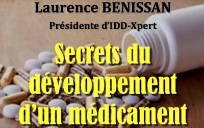 """28.11.19 – Madame Laurence Benissan, Présidente d'IDD-Xpert au sujet de """"Secret du développement d'un médicament""""."""