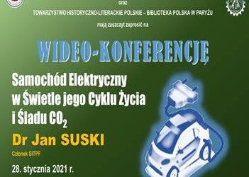 """SITPF – Konferencja """"Samochód Elektryczny w Świetle jego Cyklu Życia i Śladu CO2"""" (po polsku)"""