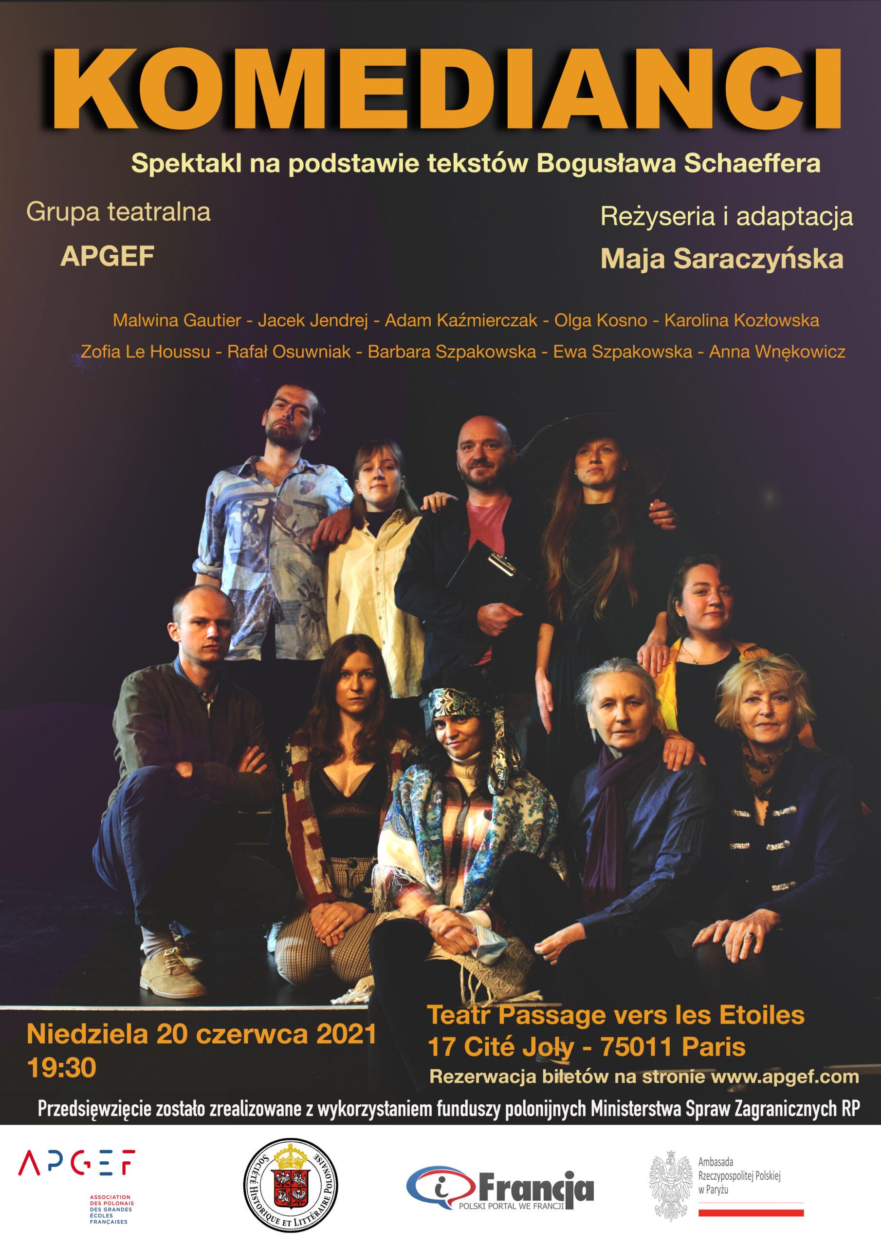 KOMEDIANCI – teaser spektaklu po polsku w Paryżu – 20.06.2021